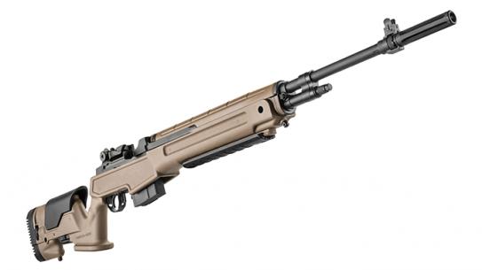 Springfield Armory Loaded M1A Rifle Flat Dark Earth reup angle