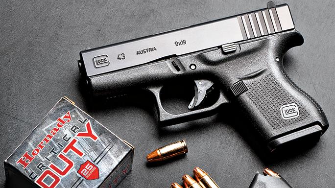 gun review glock 43 pistol in 9mm