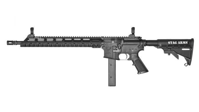 stag arms, stag arms model 9t, model 9t, model 9t 9mm, 9mm model 9t rifle, model 9t rifle, model 9t profile left