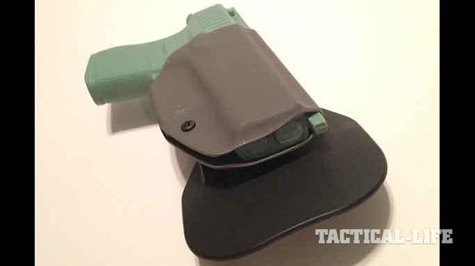 YetiTac Glock 43 holster EDC Paddle profile