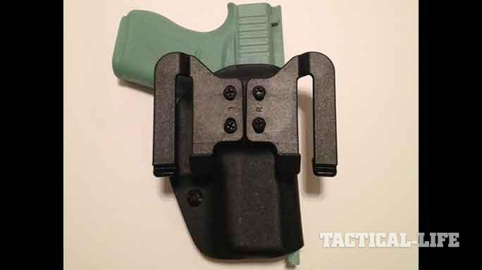 YetiTac Glock 43 holster quick claw rear