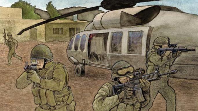 Operation Neptune Spear Spec Ops 2015 bin Laden drawing