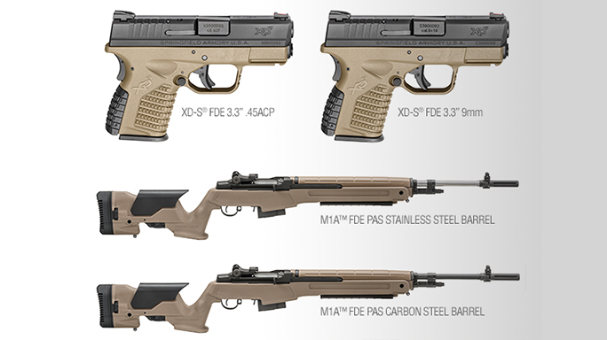 Springfield Armory Flat Dark Earth XD-S Pistol M1A Rifle