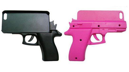 Gun-Shaped Phone Case