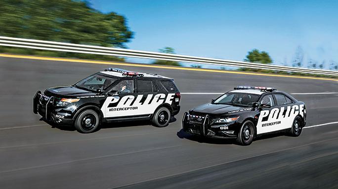 Ford Interceptors Police lead