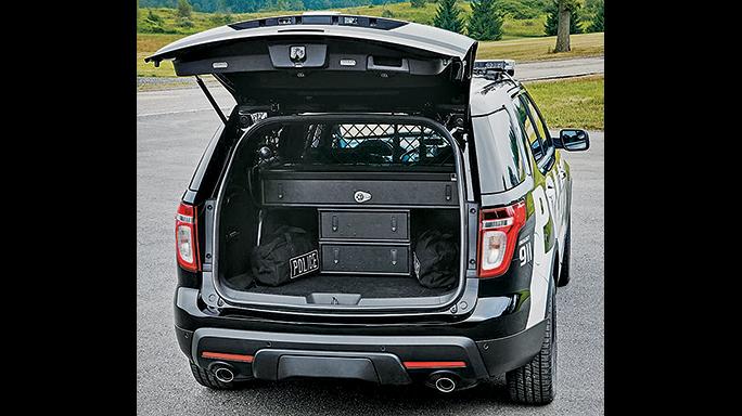 Ford Interceptors Police trunk