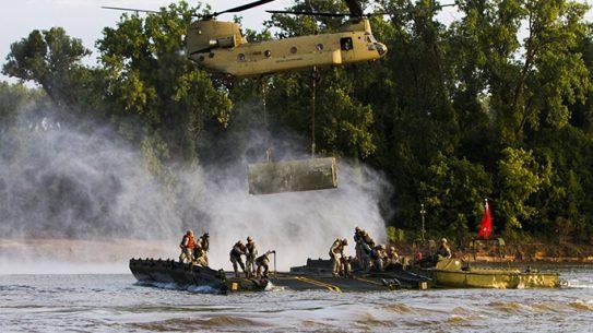 Army Reserve Movable Bridge Arkansas River