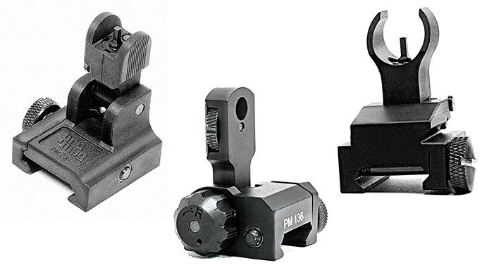 Black Guns 2016 iron sights Promag AR-15/M16 Flip Ups