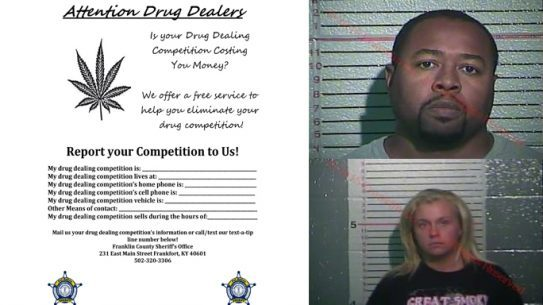 Drug Dealer Flyer Franklin County Kentucky