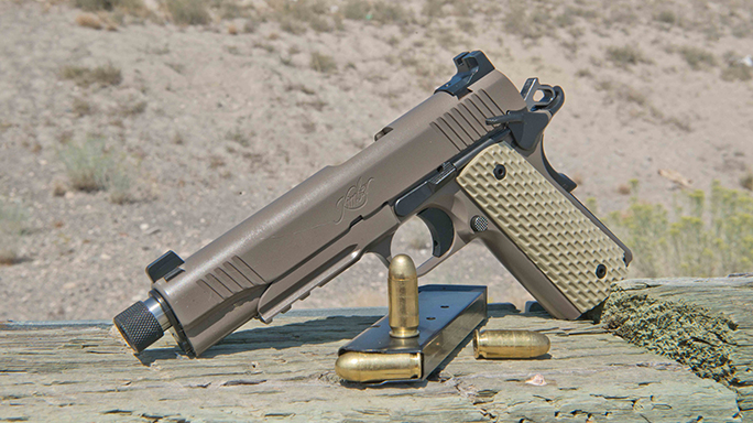 Kimber 1911 Warrior Pistols right brown