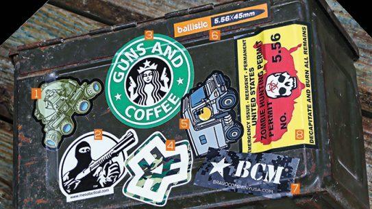 8 Stickers Decals Firearms Gear