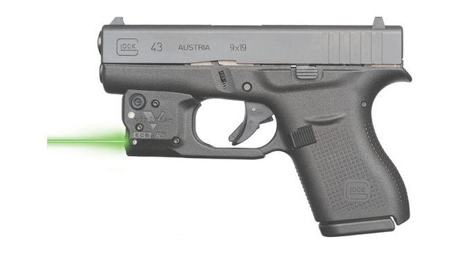 Viridian Reactor 5 Green laser sight for Glock 43 featuring ECR