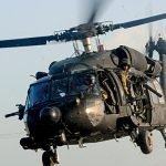 During the raid in Al Qadisiyah, a MH-60 Black Hawk was used.