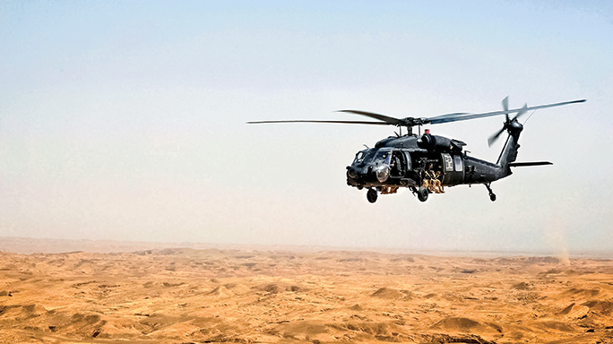 A Black Hawk helicopter was used to recuse Roy Hallums.
