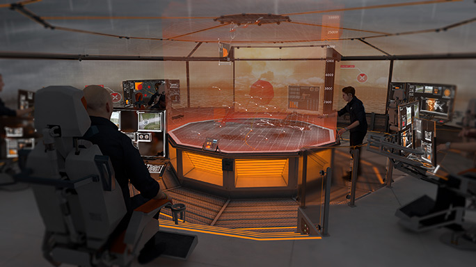 Dreadnought 2050 hologram map
