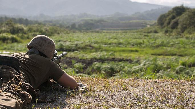 JGSDF Marines Sniper Training Forest Light 16-1 Japan