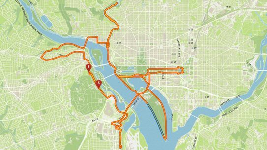 Marine Corps Marathon 2015 Course Map