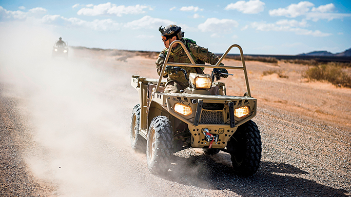 The Polaris MVRS800 vehicle can operate in up to 30 inches of water.