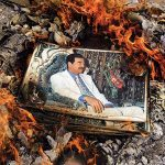Images of Saddam Hussein were being destroyed across Iraq.