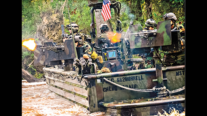The Special Ops Craft-Riverine vehicles come in great use for SEALs, with features including GPS satellite and ballistic protection.
