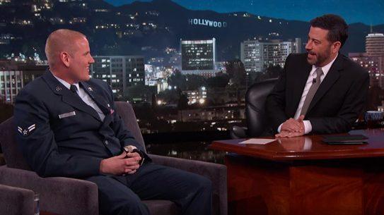 US Airman Spencer Stone Appears on Jimmy Kimmel