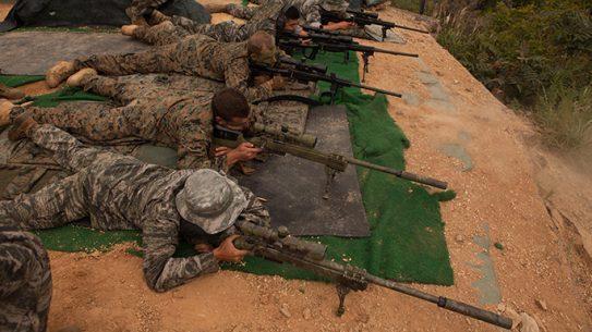 U.S. Marines scout sniper Korean Marine Exchange Program 15-13
