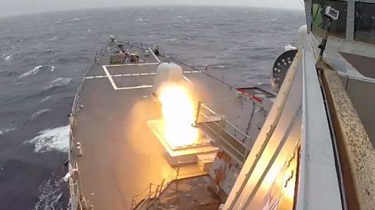 USS Ross 2015 Ballistic Missile Target Coalition Test