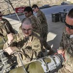 Staff Sgt. Samuel Percy and Staff Sgt. Bryce Billingsly on Bagram Airfield