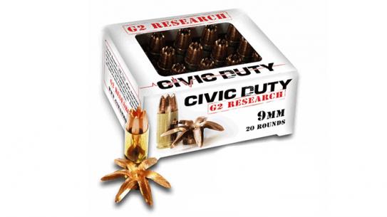 G2 Research Civic Duty 9mm ammunition ammo