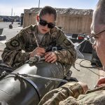 Staff Sgt. Samuel Percy and Airman Morgan Matteson on Bagram Airfield