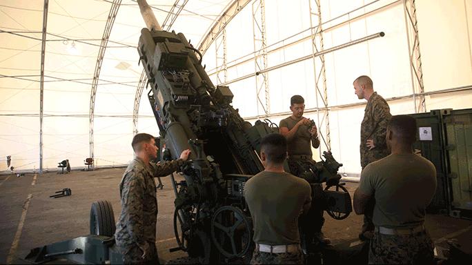 Field Artillery Cannoneers M777A2 Howitzer Gunners