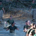 Officer Candidate School muddy pit
