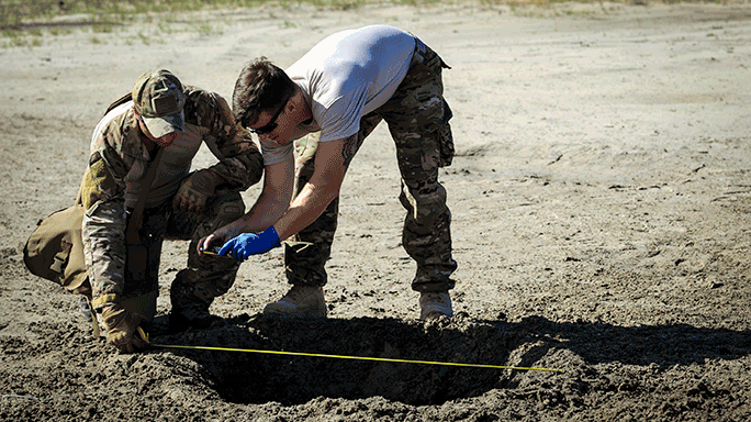 EOD Airmen Post-Blast Analysis Training