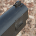 Jesse James Firearms Unlimited Cisco 1911 handgun front sight