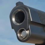 Jesse James Firearms Unlimited Cisco 1911 handgun muzzle
