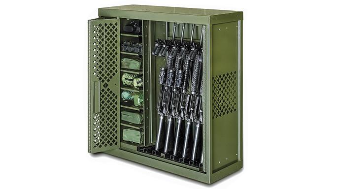 Gun Lockers Spacesaver Universal Weapon Rack