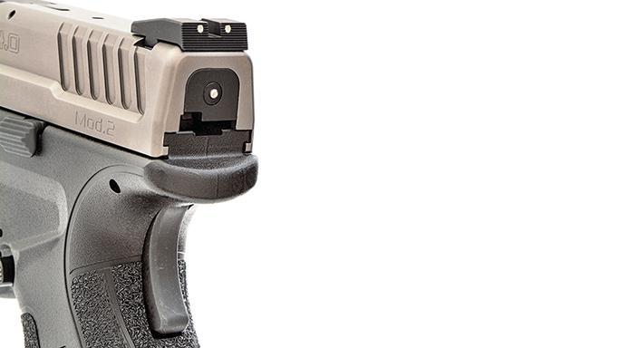 """Test Springfields 9mm XD Mod.2 4"""" Service Model Pistol rear"""