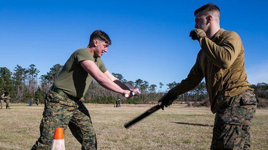 Marines OC Spray Non-Lethal Training