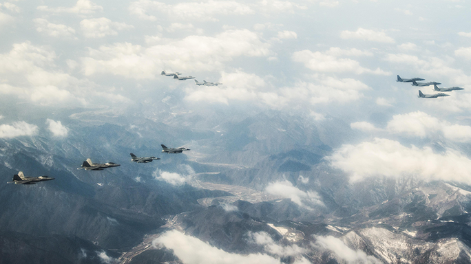 F-22 Raptors South Korea Show of Force