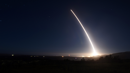 LGM-30G Minuteman III intercontinental ballistic missile Minot Air Force Base