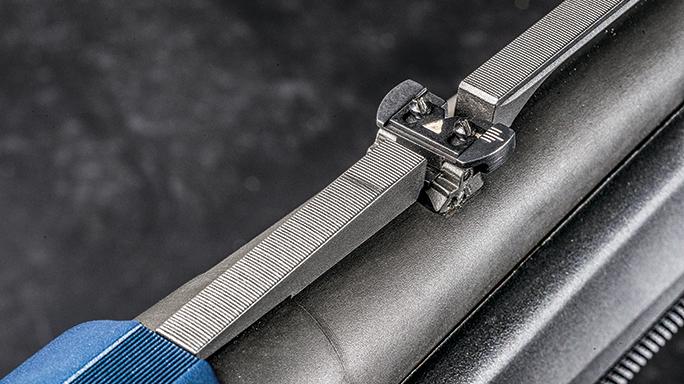 FN America SLP Competition shotgun rear sight folded