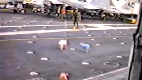 USS Kennedy Prank Greased Up Pigs