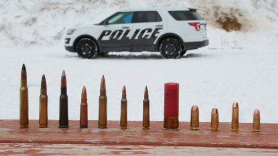 Ford Police Car Doors Armor Piercing Bullets