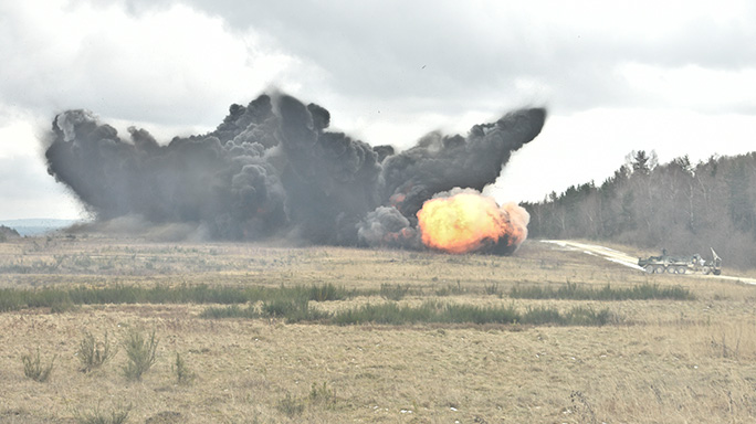 Mine Clearing Line Charge 2nd Cavalry Regiment