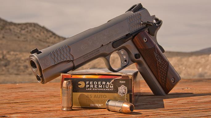 Smith & Wesson SW1911 Engraved Handgun ammo