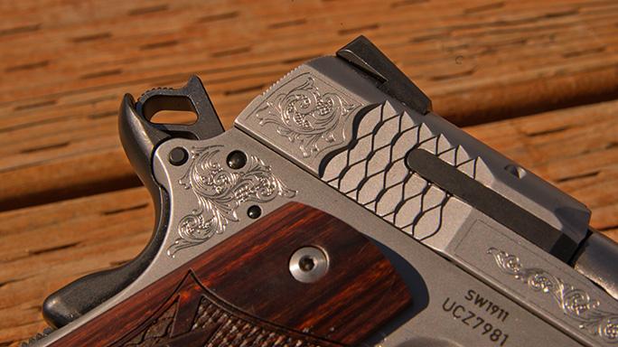 Smith & Wesson SW1911 Engraved Handgun engraving