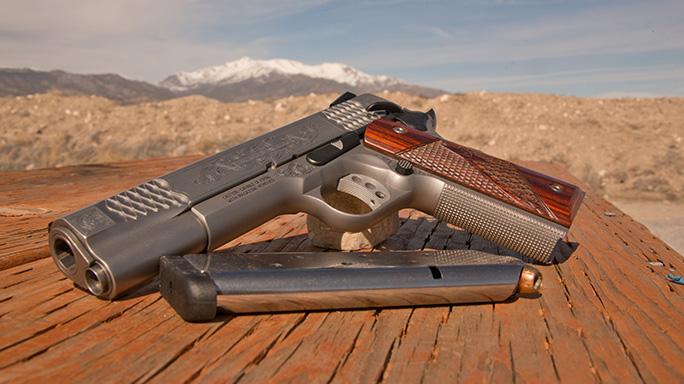 Smith & Wesson SW1911 Engraved Handgun lead
