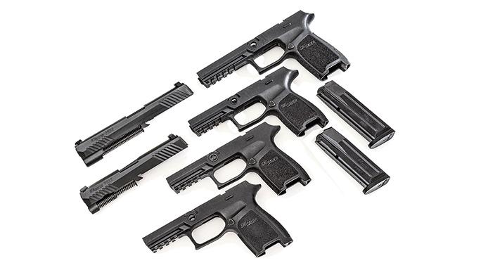 Sig Sauer P320 Shape Shifter Pistol assemblies