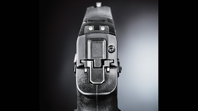 Sig Sauer P320 Shape Shifter Pistol rear sight