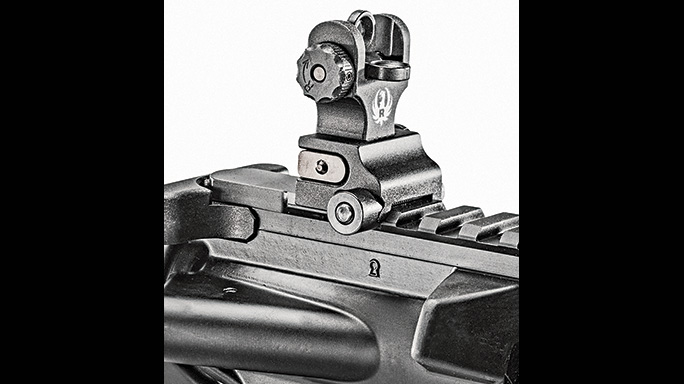 Ruger SR-556 Takedown review rear sight